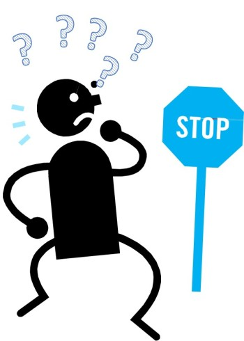 Blue Stop Sign