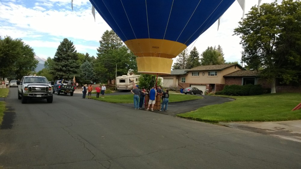 Yup, this happened!  Landed right on our street in 2013.