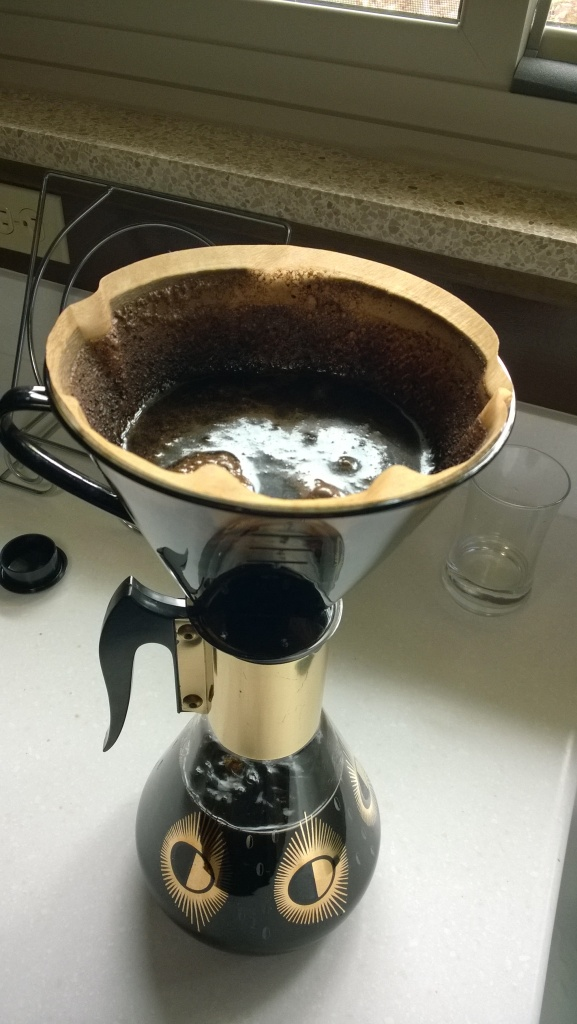 Our coffee filtering setup.