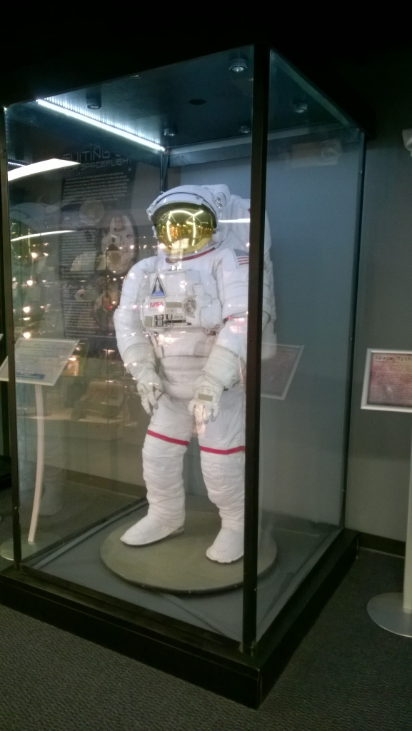 Spacesuit on display at Colorado Spring's Discovery Center.  Come on over to see it.