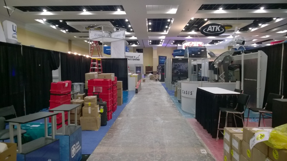Exhibit hall on Monday, before everything opens up.  Pretty messy, eh?